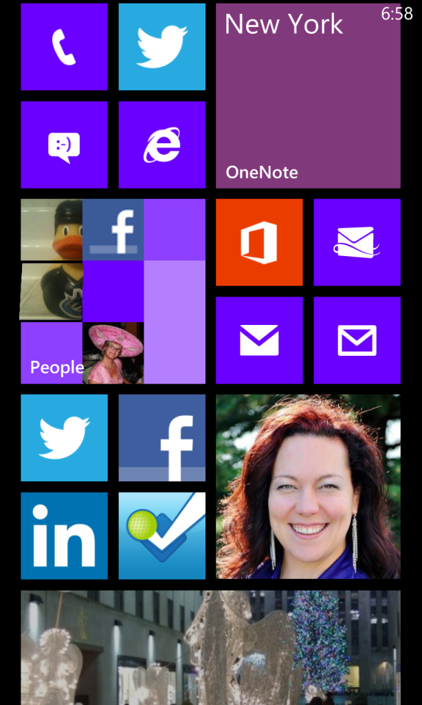 Windows Phone Custom Tile Screen Shot