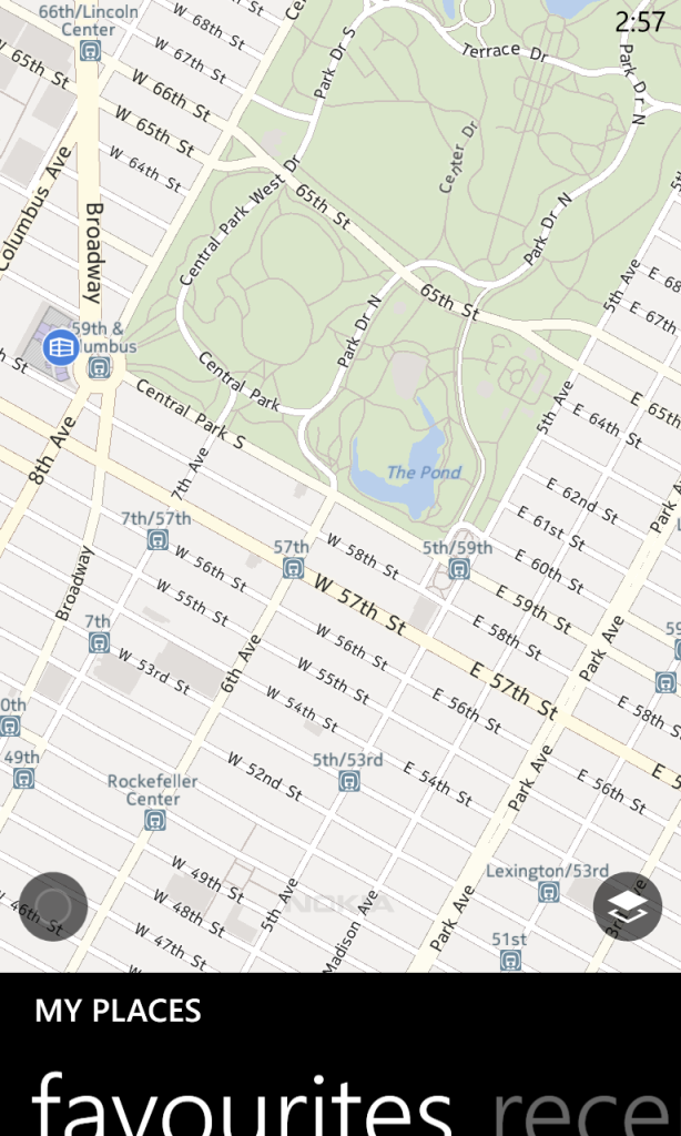 Windows Phone Nokia Map Screenshot